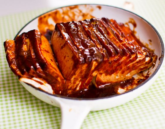 BBQ Hasselback Tofu♥ Oh, this was easy and great. Skipped the broil ...