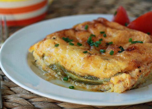Chiles rellenos breakfast stratas with optional chorizo sausage for ...