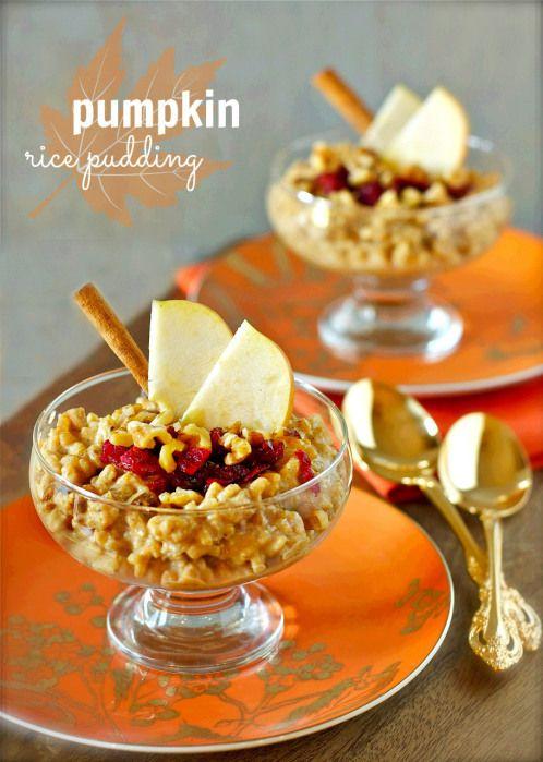 Pumpkin Rice Pudding   daisysworld.net   Pumpkin Obsession   Pinterest
