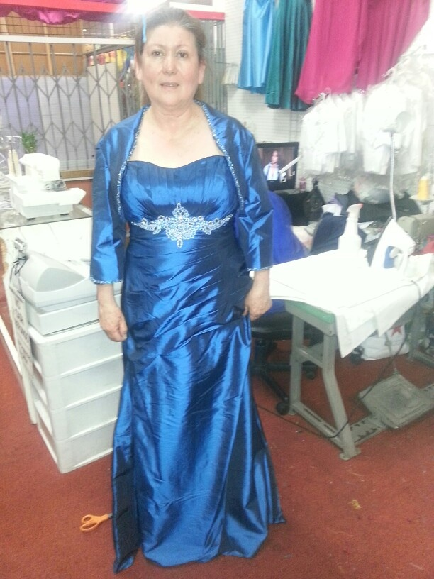 Mother of the bride blue dress angie and isaac s royal blue wedding