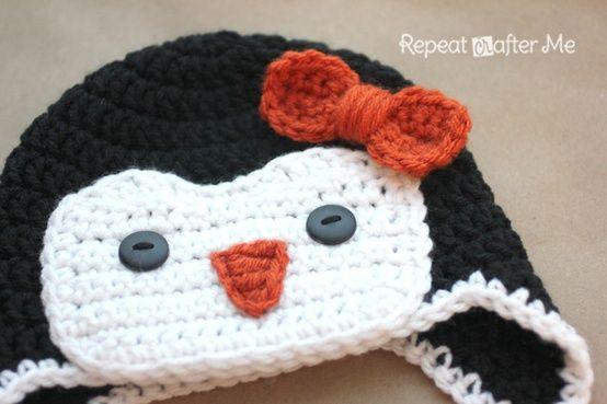 Free Crochet Pattern For Penguin Hat : Crochet Penguin Hat Pattern.. Crochet Nut Pinterest