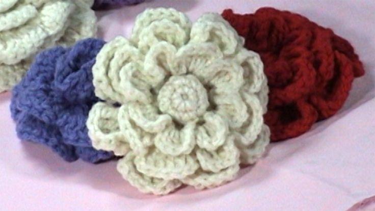 FREE Pattern - Crochet Flower - DaisyClubCrafts