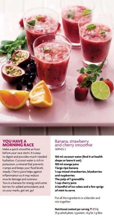 banana, strawberry and cherry smoothie | Fitness, Nutrition and Healt ...
