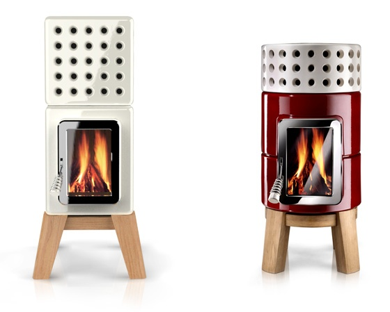 Cute little wood stove!