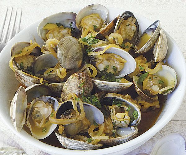 Manila Clams with North African Spices recipe