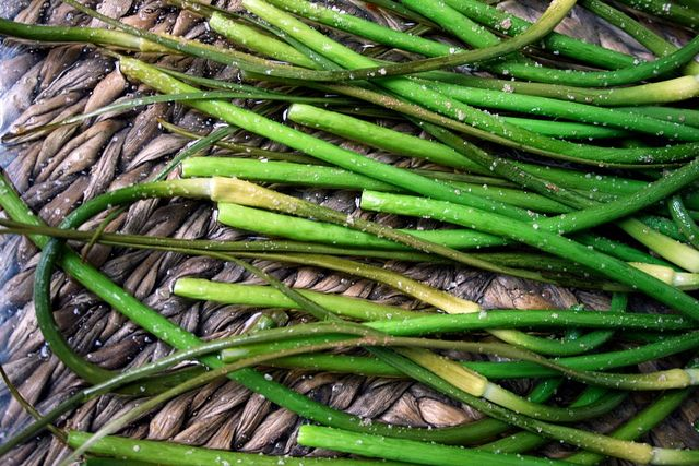 Garlic Scape Scampi Recipe — Dishmaps