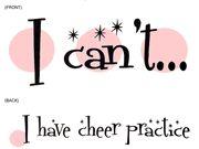 My motto during cheer season!