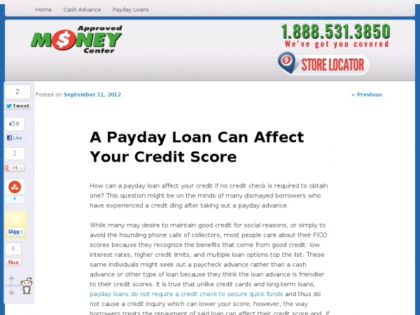 How can a payday loan affect your credit if no credit check is ...