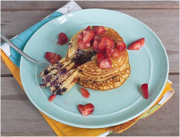 ... Ricotta Pancakes With Strawberry Rhubarb Compote Recipes — Dishmaps