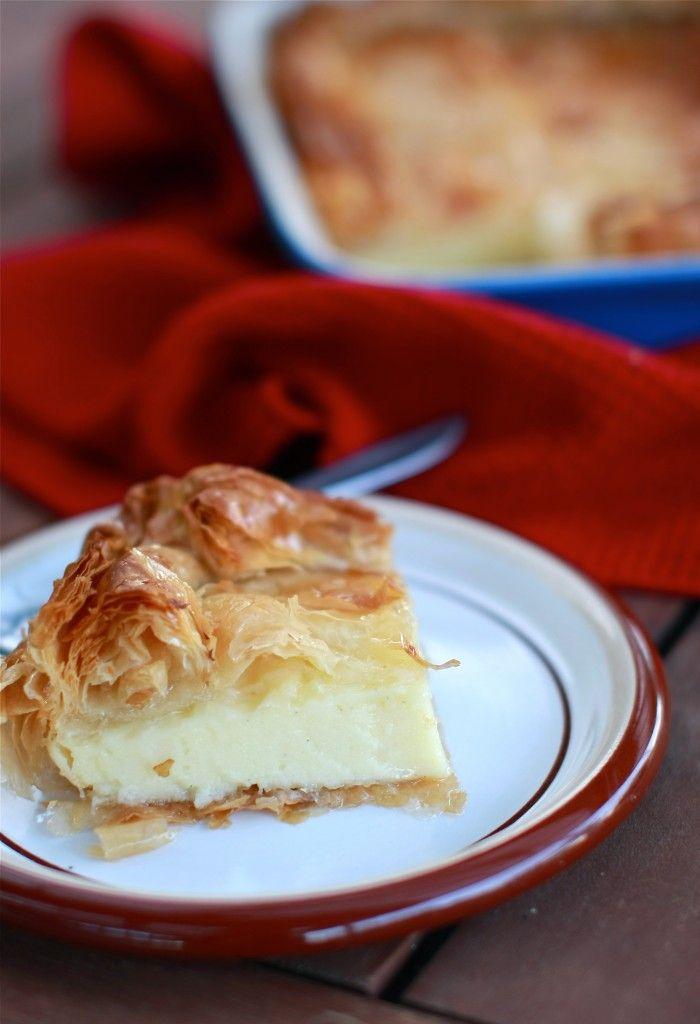 Syrupy Phyllo and Semolina Custard Pie | yummy stuff | Pinterest