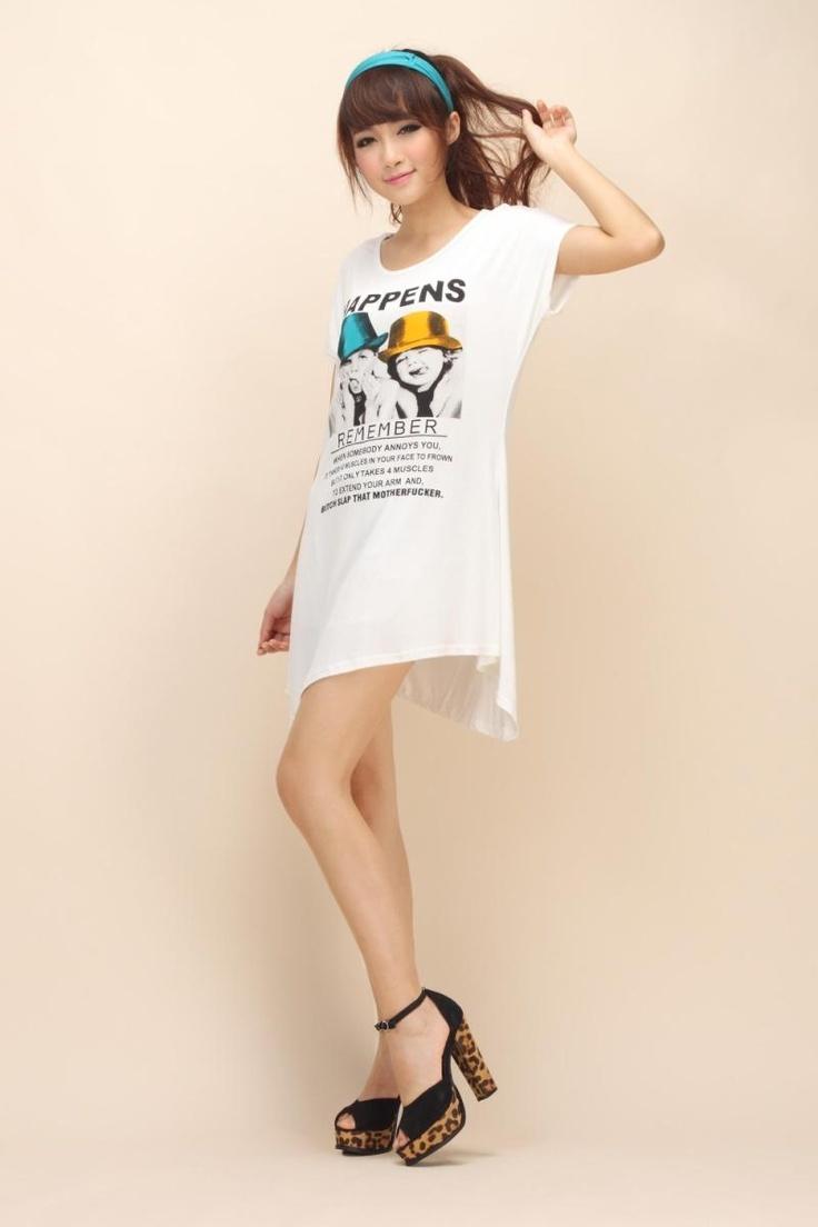 Long Dress T-Shirt with High-Low Hem | Buytrends>>Women's Shirts | Pi ...