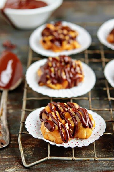 crust and passion fruit caramel sauce pecan clusters dark chocolate ...