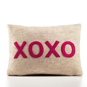 xoxo pillow by alexandra ferguson