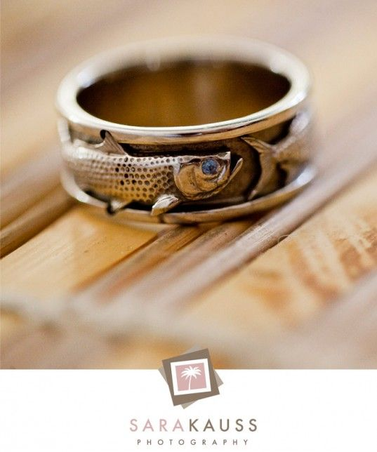 Mens rings mens wedding bands fish for Fishing wedding band