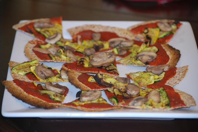 Grilled Ezekiel Wrap Vegetable Pizzas | Let's Eat | Pinterest