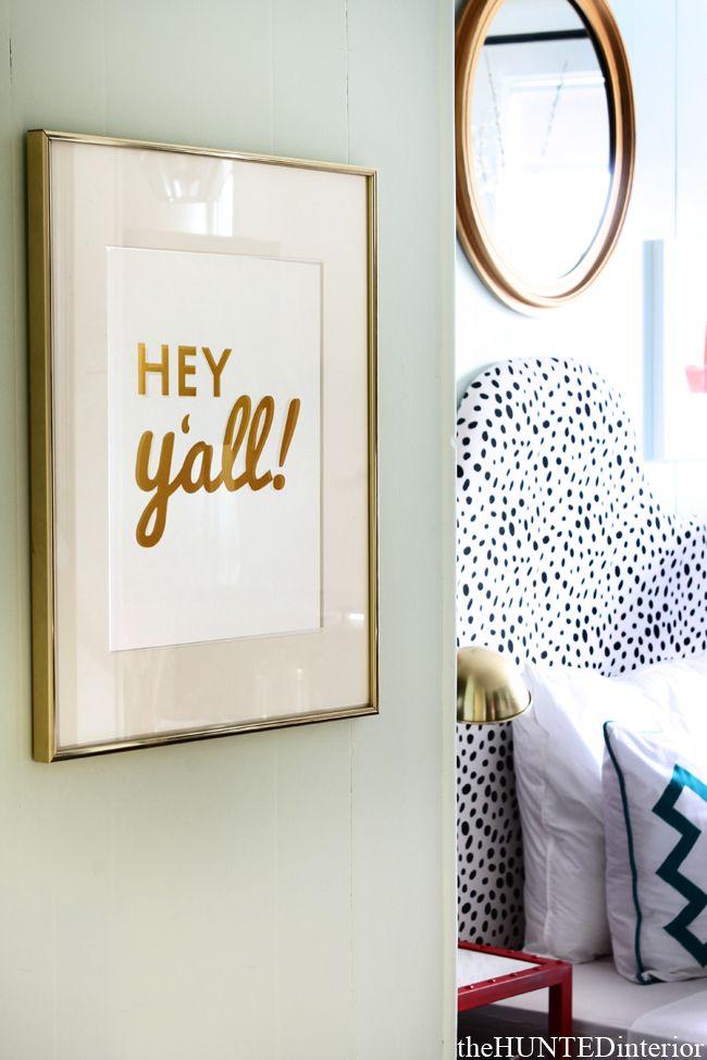 "the HUNTED INTERIOR: Room Service Atlanta Room Reveal ""Hey y'all!"""