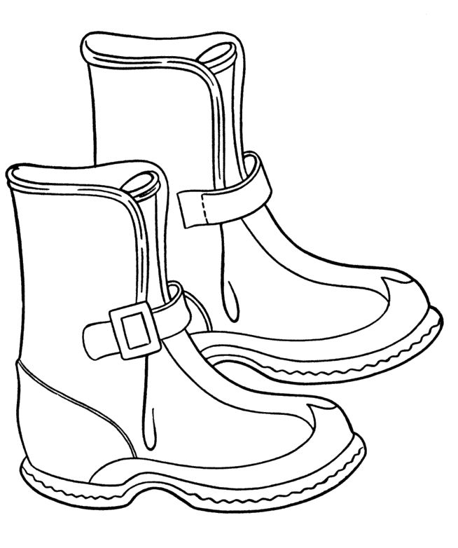 Winter Boots Trendy Coloring Pages | kids coloring pages | Pinterest