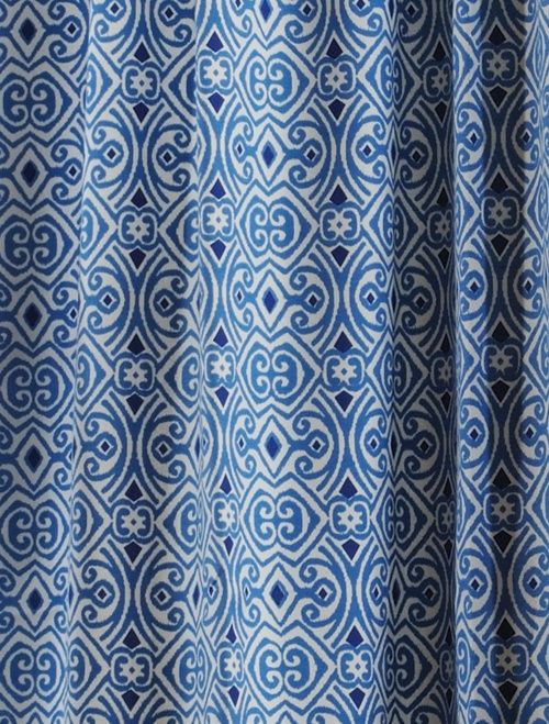 blue white patterned curtains classic linen pinterest