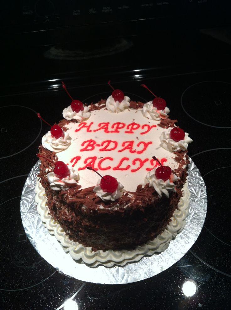 Black Forest Cake Decoration Images : Black Forest cake I made for my sister Cake Decorating ...