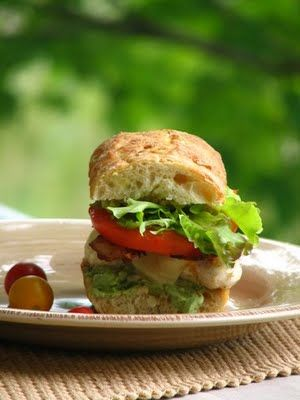 Grilled Chicken Club with Pesto Mayonnaise