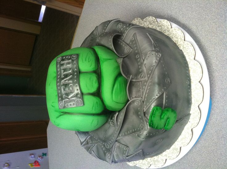 Hulk fist cake Cake Ideas Pinterest