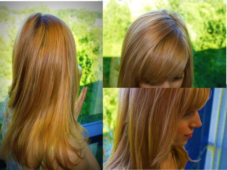 This beautiful strawberry blonde was achieved using Organic Color Systems.