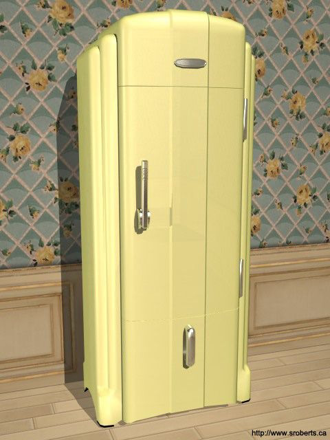 ultra cool art deco fridge retro vintage stuff. Black Bedroom Furniture Sets. Home Design Ideas
