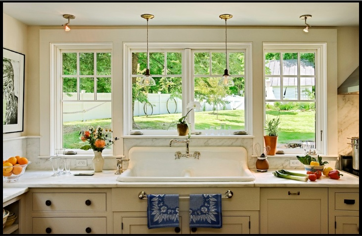 Big window over sink for Large kitchen window