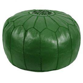 green pouf!