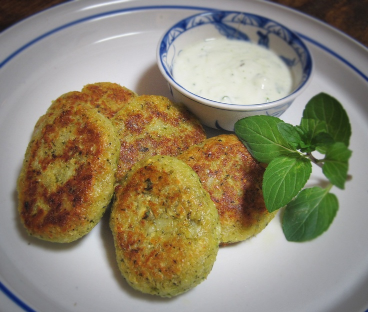 Baked falafel with yogurt mint sauce. | My Homemade Cooking | Pintere ...