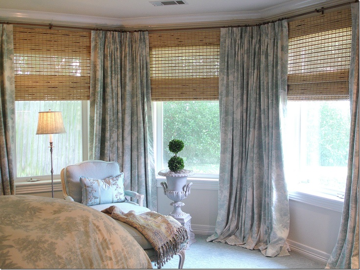 Window treatment for bay window master curtains drapes pinterest
