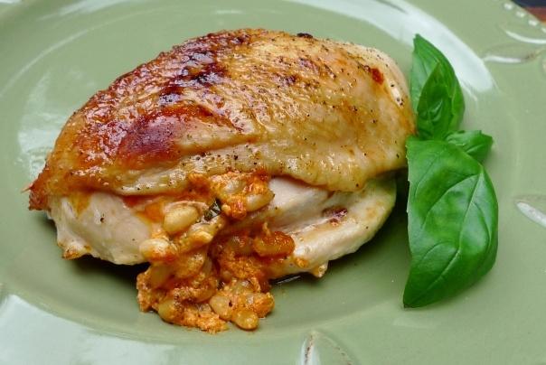Roasted Red Pepper & Feta Stuffed Chicken Breasts