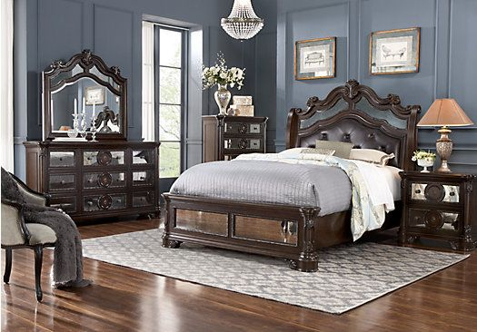 Glass Castle 8 Pc King Bedroom Suite Ideas Plans For The Master Bedroom Pinterest
