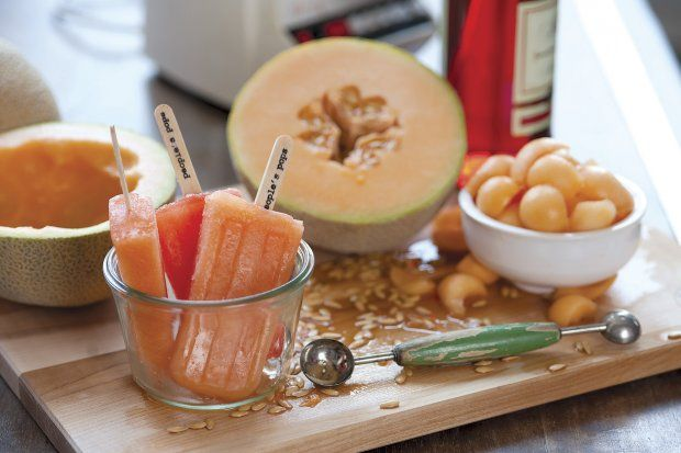 Cantaloupe & Campari Ice Pops Recipe | Beverages n Frozens n Things ...