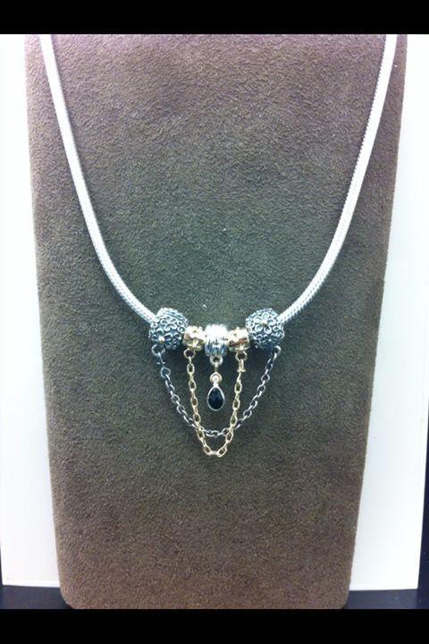 Pandora necklace using safety chains pandora pinterest