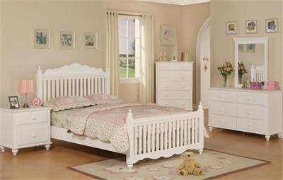 Havana White Wood Full Size Bed Bedroom Furniture Pinterest