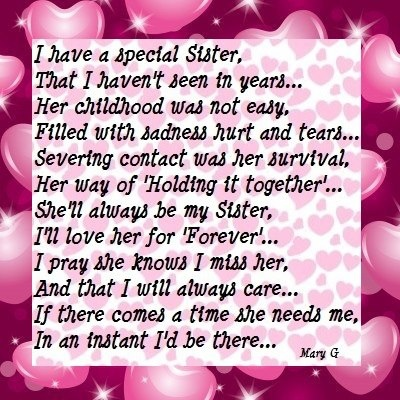 Inspirational Poems Sisters Sister | Inspirational Poems