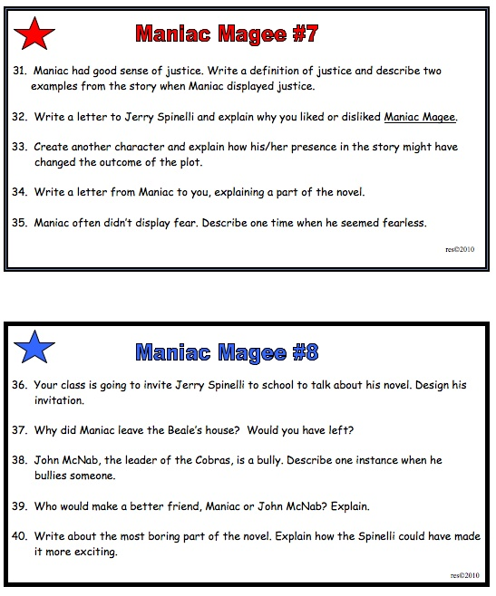 Maniac magee essay / The giver essay topics