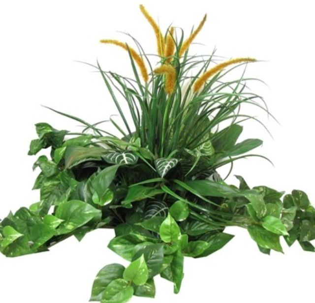 Silk floral arrangement greenery arrangements