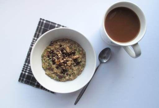 zucchini bread oatmeal - the veggie nook | vegan breakfast | Pinterest