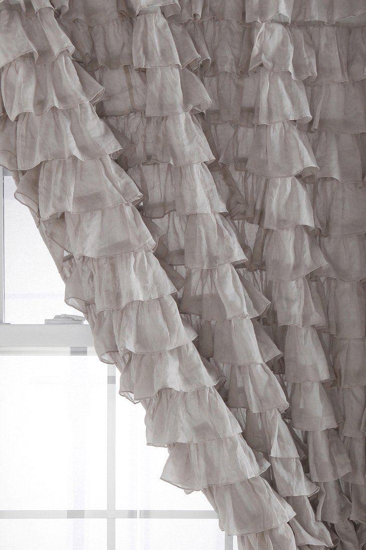 Black ruffle curtains - Waterfall Ruffle Curtain Shades Of Pemberley Pinterest 730x1095 Urbanoutfitterscom Waterfall Ruffle Curtain 291x431