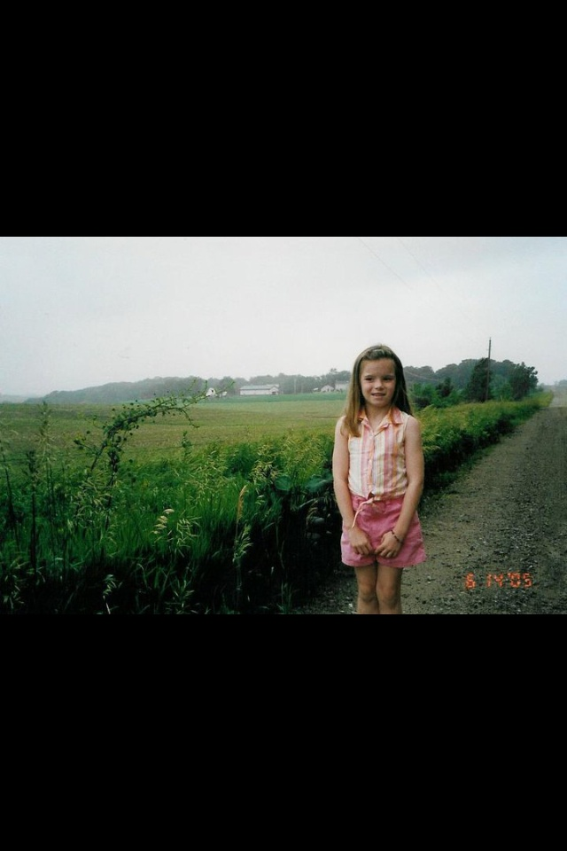 In front of my grandparent's old farm in Haverhill, Iowa. My favorite childhood memories were spent here.