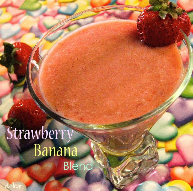 made strawberries bananas peaches and oj partner with strawberry ...