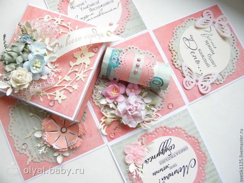 Коробка открытка своими руками на свадьбу 95