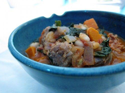 White Bean, Yam, Kale, and Sausage Soup | Entrées (Savory ...