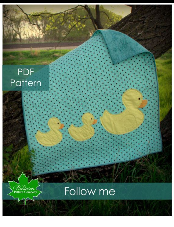 PDF Quilt Pattern  Follow me  easy and modern baby quilt of a mother  Modern Easy Baby Quilt Patterns