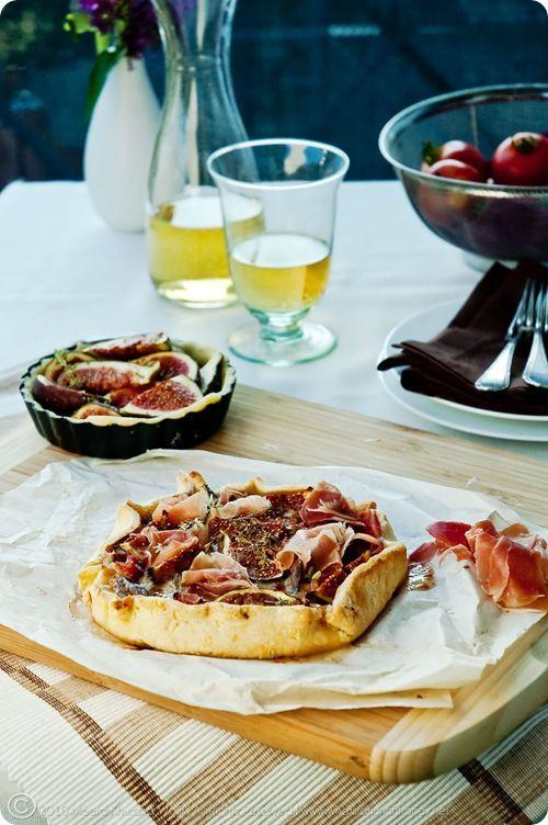 ... to go on the August menu! Honey, Fig, Prosciutto & Gorgonzola Crostata