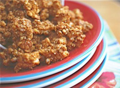Peanut Butter Cinnamon Popcorn (or Rice Crumbles) (vegan, gluten-free ...