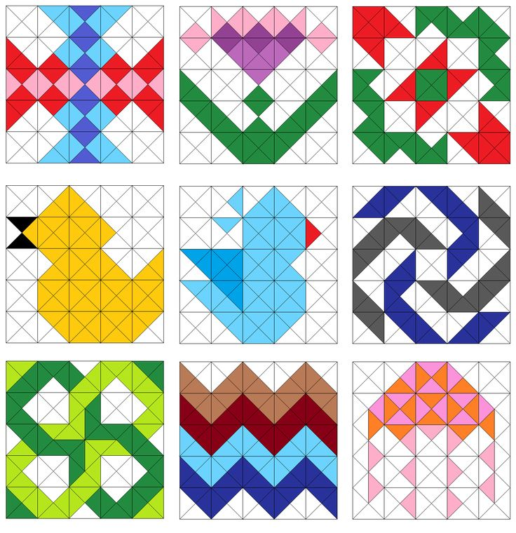 Quilting Pattern Shapes : Easy Triangle Quilting Patterns