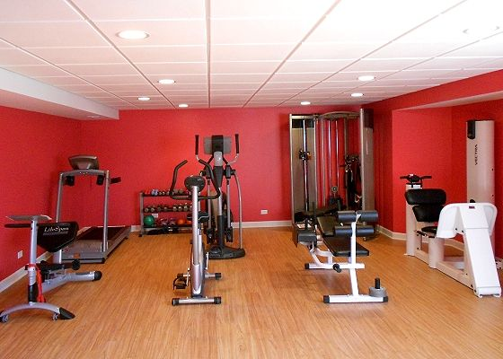 finished basement gym future home ideas pinterest